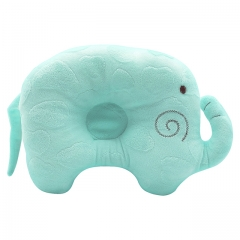Unyee Elephant Baby Sleeping Pillow, Anti-Roll Flat Head Prevention for Newborn Infant Baby Blue One Size