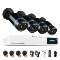 H.View 1080P Security Camera System 4ch CCTV DVR DIY Kit 2MP Surveillance Camera System