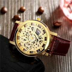 Men Full Stainless Steel Wrist Watch Golden Men Metal Watches Cestbella Brown one size