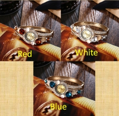 Shining Stone Watch Fashionable Watch Female Wristwatch Red Blue White Watch Cestbella Red