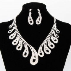 Big Crystal Shining Necklace Platinum Women Jewellery Wedding Party Pure White Jewellery Cestbella pure white normal size