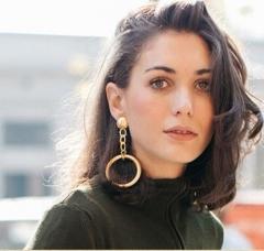Popular Luxury Crystal Zircon Shining Big Earrings Elegant Earrings Jewelry for Women Gold Cestbella golden normal size