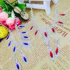 Fashion Galaxy Necklace Shining Stone Wedding Ceremony Party Neckline One size Cestbella Royal Blue normal size