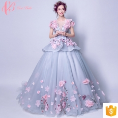 Luxuriant short sleeve puffy wedding  ball gown wedding dress princess wedding dress cestbella white us 4