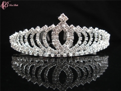 High Quality Fashion Design Crystal Rhinestone Bride Crown  Cestbella Wedding Crown for Women white 01