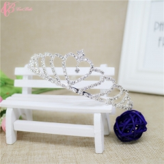 Cestbella Decorative Crystal Stone Bridal  Cestbella Wedding Tiara Crown white 01