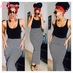2017 Cestbella African Women Latest Slim Mermaid Skirt Style Bodycon Maxi Skirt Dress striped us 6