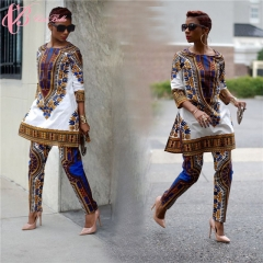 2017 Fashion stylish Africa women national style casual cestbella  two pieces suits for women white us 10
