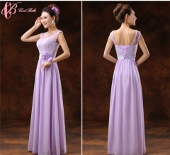 Cestbella Gorgeous New Style Appliqued Bridesmaid Dress Cheap Long    Dress With a Bowknot                        Purple us  4