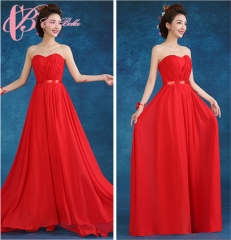 2017 Cestbella Red Chiffon Tall Mother Of The Bride Dresses Floor Length Long      Red us 4