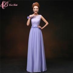 Cestbella High Quality Custom Made Appliqued weddings Bridesmaid Dress 2017 Chiffon Purple us 4