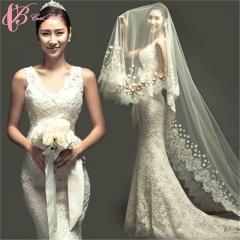Cestbella Beautiful Bowknot V Neck Union Fashion Mermaid Wedding Dress Patterns 2017 White us 4
