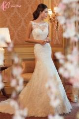 Cestbella White Wedding Dress With Train maxi wedding dress Long Train Wedding Dress White us 4