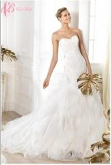 Cestbella New Style Sexy Crystal Beaded Royal White Mermaid Wedding Dress White us 4