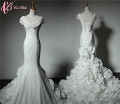 Cestbella Gorgeous Sexy Low Neck Low Back Chapel Train Wedding Dress 2017 Ethnic Clothing White us 4