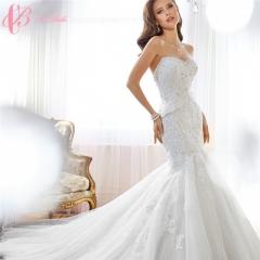 Cestbella Fashion Sexy off-shoulder Mermaid Wedding Dresses Wedding Gowns White us 4