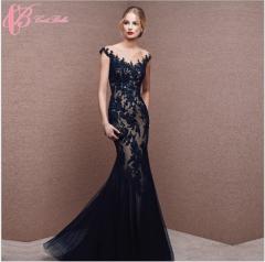 Cestbella Wholesale Spanish Style Sleeveless Mermaid Black Floor-Length Evening Dress 2017 Black us 4