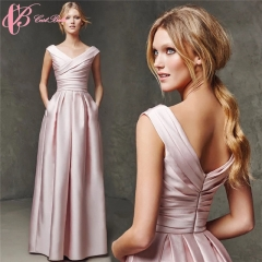 2017 Cestbella Sexy A Line Pleat Red Floor Length Long Pink Dresses Women Summer Red us 4
