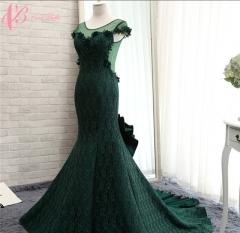 Cestbella Gorgeous Custom Made Green See Through Women's Evening Dresses 2017 Green us 4