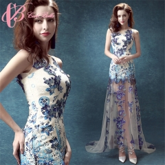 Cestbella  Sleeveless Sweetheart Lace Tulle Wedding Dress and Party Dress  FOB Price: US $39 Blue us 4
