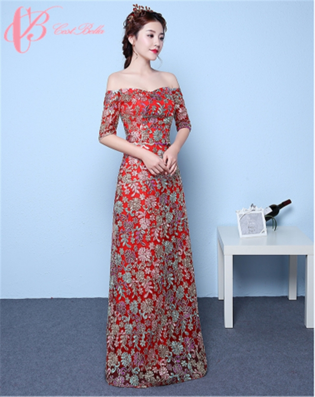 6bdd479d463 Cestbella Sexy Floral Print Dress For Women Prom Guangzhou Long Evening  Dresses 2017 ...