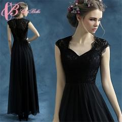 Cestbella Modern Victorian Empire  Prom Dress Floor Length Evening Dress Fat Black Evening Dress Black us 4