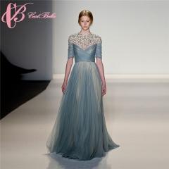 Cestbella Light Blue Bead Beach Wedding Dress and Beach Blue Long Party Dress Light Blue us 4