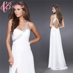 Cestbella Hot Sexy Evening Dress Prom DressParty Wear One Shoulder Cocktail Dress White us 4