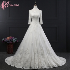 Cestbella Gorgeous Beauty Vintage Lace Beaded Off The Shoulder Wedding Dress Bridal Gown White us 4