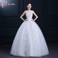 Cestbella White Bridal Sleeveless Puffy Backless Ball gGwn Wedding Guest Dress Plus Size White us 4