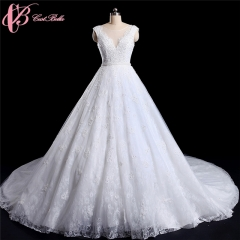 Cestbella Best Selling Latest Dress Designs Photos Of Princess Gowns Wedding Dress 2017 White us 4