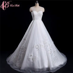 Cestbella Luxurious Ball Gown Dress with Heavy Beads Sweetheart Ivory Classical Custom-made white us 4