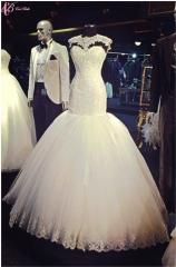 Cestbella Cap Sleeve Fashionable Concise Wedding Dress Latest Design Mermaid Pure White us 4