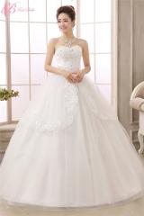 Graceful Off-shoulder Lace Applique Ball Gown Plus Size Wedding Dress Cestbella pure white us 4