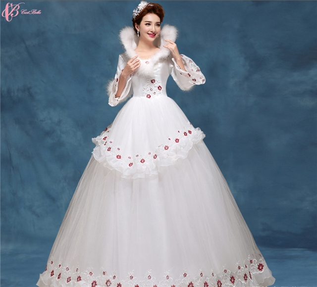 Kilimall: Lace high neck white bridal ball gown Princess Wedding ...