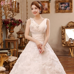 2017 Lace Top TaoBao Bridal Chic Wedding Dress Patterns pure white us 4