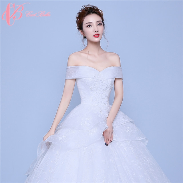 9784484ec38c Elegant Design Flower Shape Hem Off Shoulder Ball Gown Wedding Dress  Cestbella image image image ...
