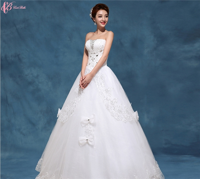 Good China Designer Bridal Gown Beaded Crystal Sexy Wedding Dresses Online For  Fat Woman Image Image ...