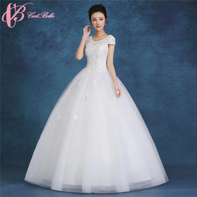 Kilimall: Short Sleeve Hot Sale Ball Gown Wedding Dress Cestbella ...