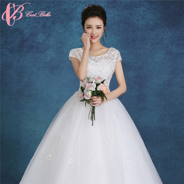 Kilimall: Short Sleeve Hot Sale Ball Gown Wedding Dress Cestbella ...