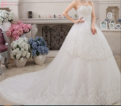 Chinese Beijing Women Top Quality Custom Made Taobao Wedding Dress Gowns pure white us 4