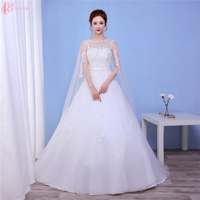 Off Shoulder Gown 2017 New Design Chapel Train Puffy Princess Wedding Dress