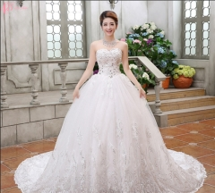 Latest chapel train puffy off shoulder ball gown princess wedding dress pure white us 4