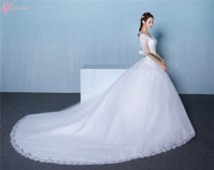 Simple Indian Wedding Dresses Sale Cap Sleeve Bridal Gown pure white us 4