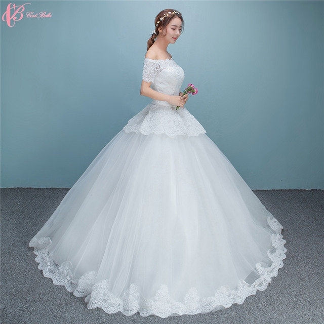 Simple Wedding Gowns In Kenya: Suzhou Sexy Simple Crystal Beaded Ball Gown Wedding