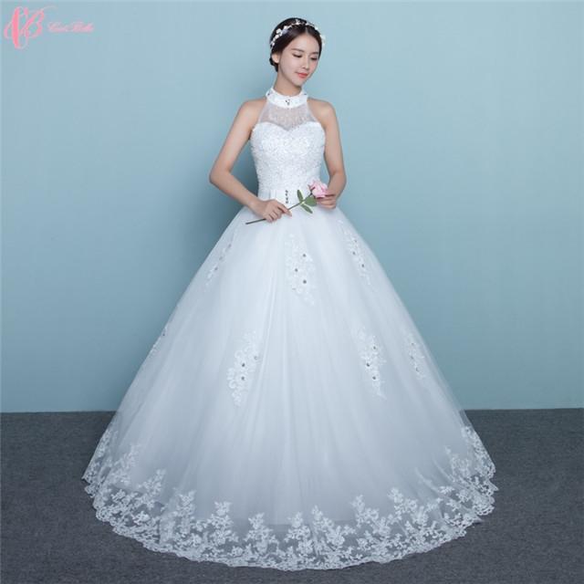 Kilimall: 2017 Halter Dress Crystal Beaded Elegant Princess Wedding ...
