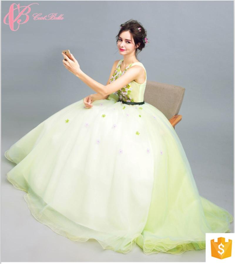 Kilimall: Gracious Light Green Ball Gown Princess Alibaba Evening ...
