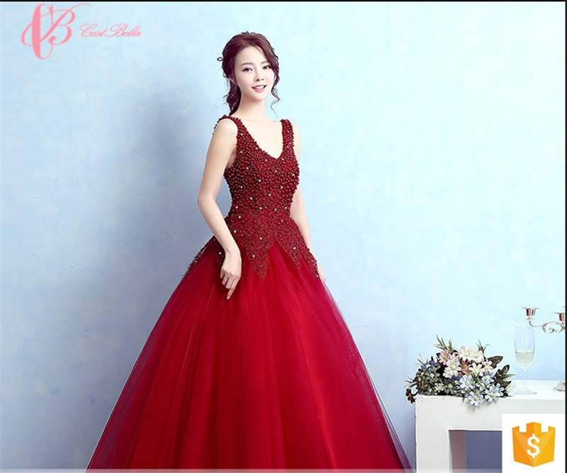 Kilimall: Deep V Back Bead Sleeveless Party Wear Gowns For Ladies ...