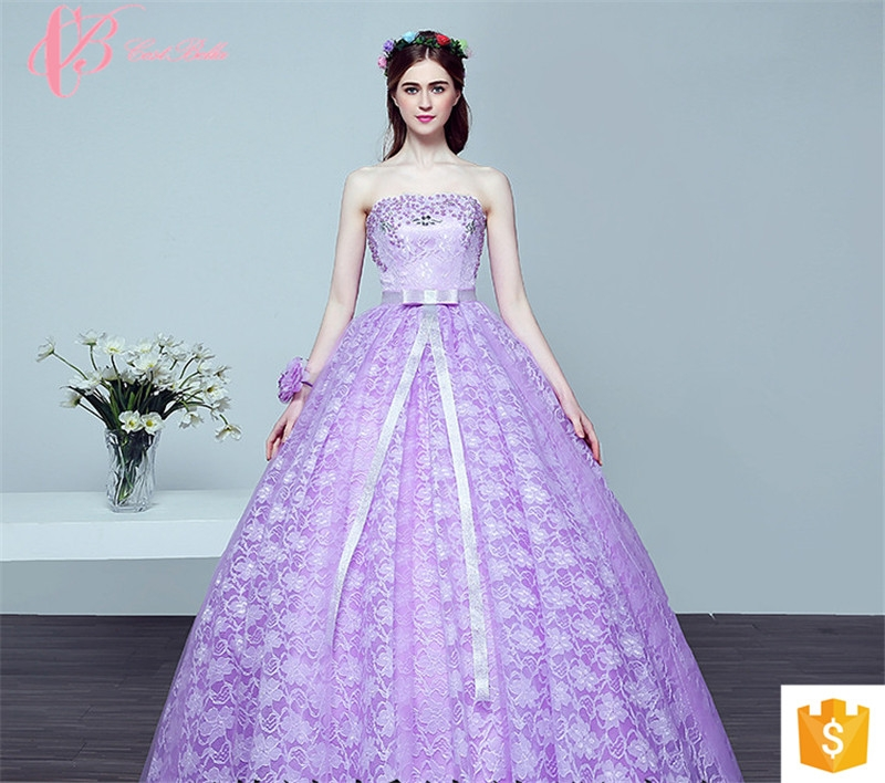 Kilimall: Royal purple Alibaba Plus Size China Arabic Colored Puffy ...