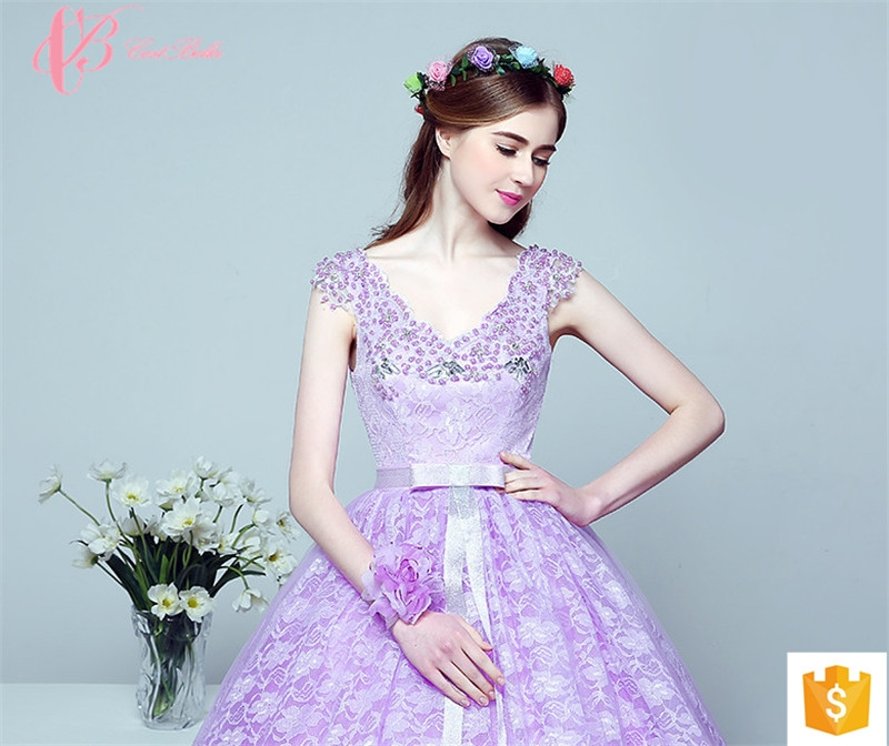 764909125fc38 Royal purple Alibaba Plus Size China Arabic Colored Puffy Ball Gown Evening  Dress image image ...